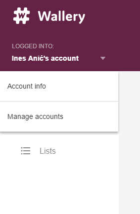 Account options for account owner